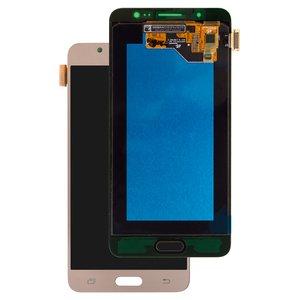 LCD Samsung J510 Galaxy J5 (2016), (golden, with touchscreen, Original) #GH97-18792A/GH97-19466A