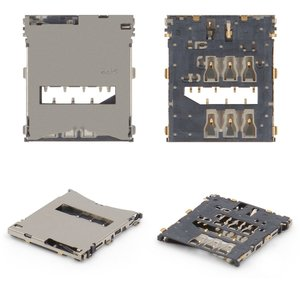 SIM Card Connector for Sony C6602 L36h Xperia Z, C6603 L36i Xperia Z, C6606 L36a Xperia Z Cell Phones