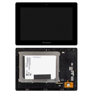 Pantalla LCD para tablet PC Lenovo IdeaPad S6000, versión 3G, negro, con marco, con cristal táctil, #BP101WX1-206/MCF-101-0887-V2