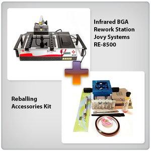 Инфракрасная паяльная станция Jovy Systems RE-8500 с набором для реболлинга