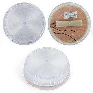 LED-світильник D150, 12 Вт, 220 В, 1300 лм, WW (природний білий), круглий