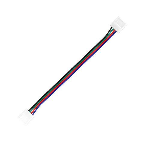 З'єднувальний кабель, 4 контактний, для світлодіодних стрічок RGB5050 WS2813, двосторонній