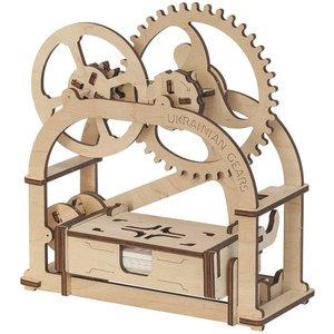 Механічний 3D-пазл UGEARS Шкатулка-візитниця